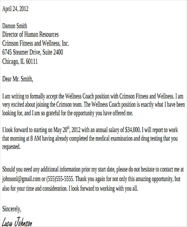 counter salary offer letter