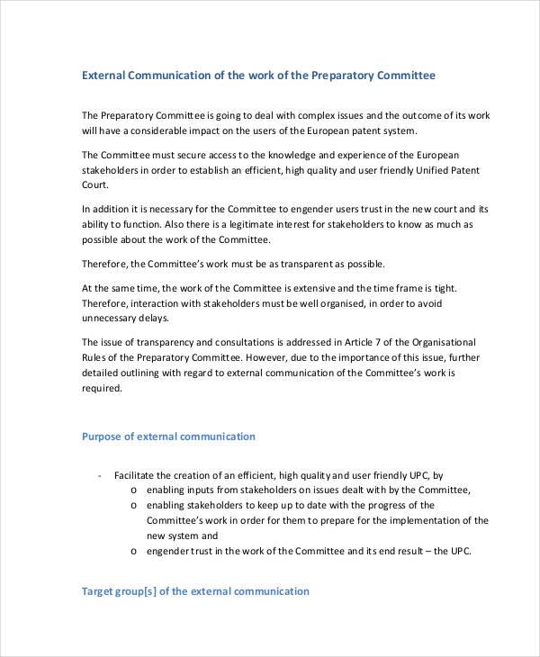 court communication plan in pdf