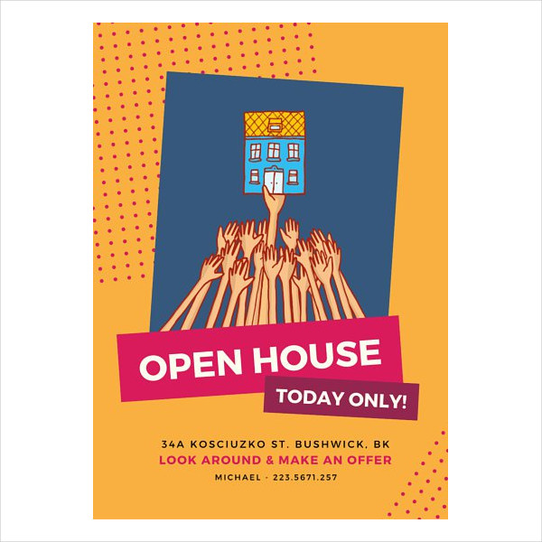 creative business open house flyer