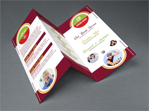 creative business tri fold brochure