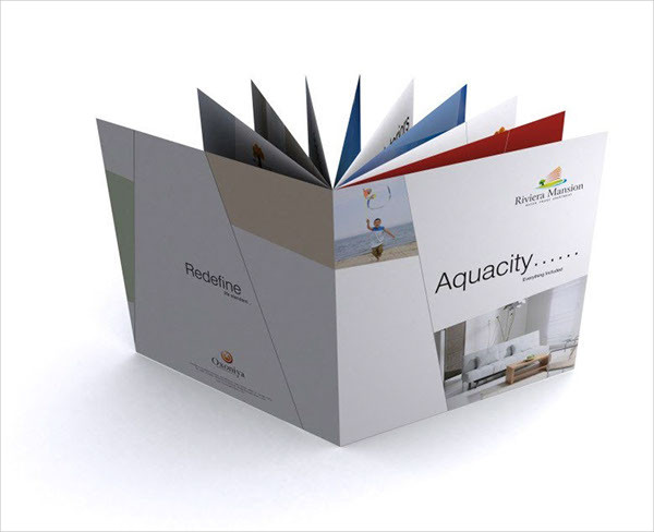 creative construction company brochure