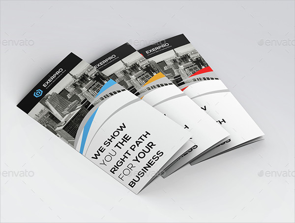 creative corporate tri fold brochure