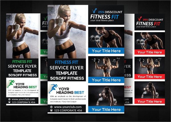 Examples Of Fitness Flyer Designs  Psd Ai Vector Eps