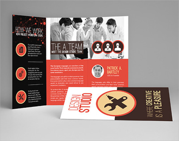 creative multi purpose tri fold brochure