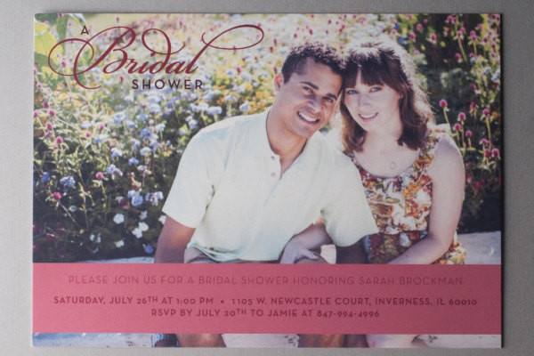 -Creative Photo Bridal Shower Invitation