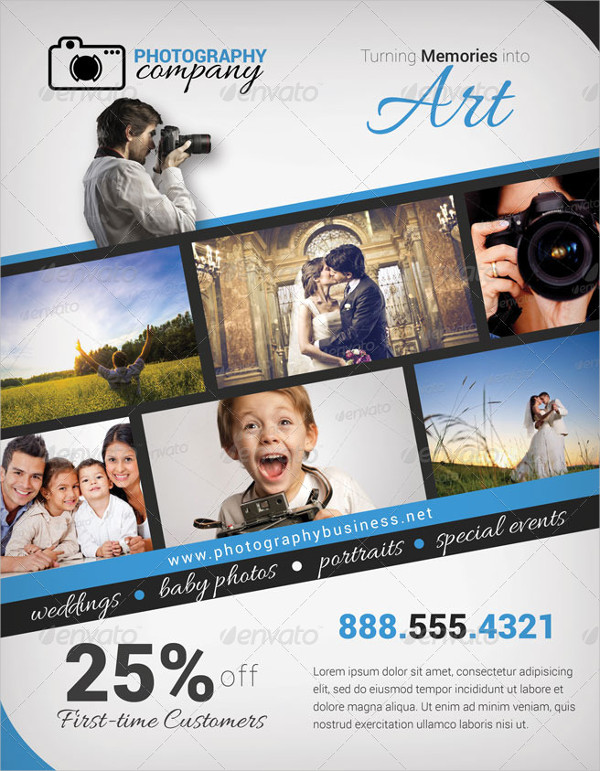 creative photography advertising flyer