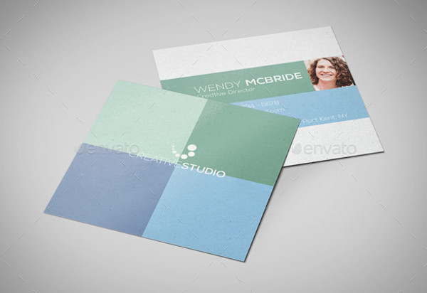 -Creative Square Business Card