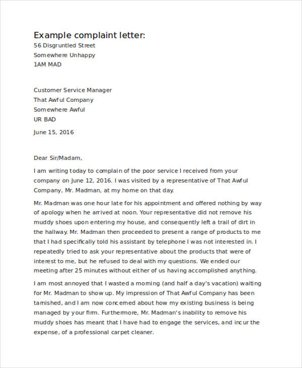 How to write a complaint letter about service restaurant complaint complaint letter samples customer complaint letter example customer service complaint letter spiritdancerdesigns