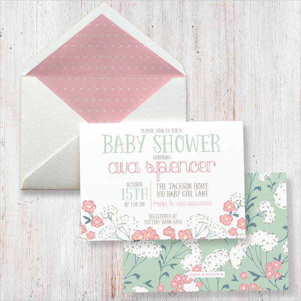 cute baby shower invitation envelope