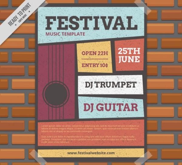dj festival flyer