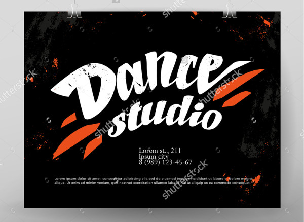 dance advertising studio poster
