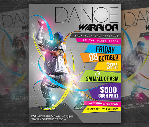 dance event psd poster