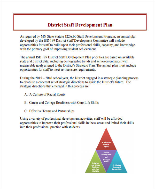 district staff development plan