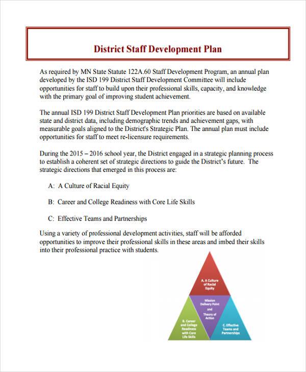 professional development plan examples