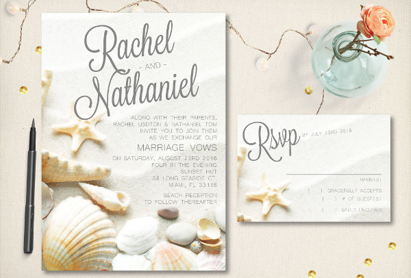 diy beach wedding card