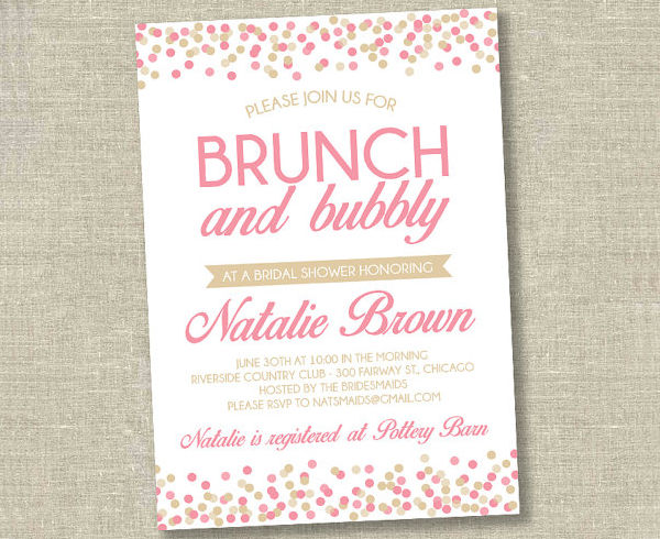 diy bridal shower brunch invitation