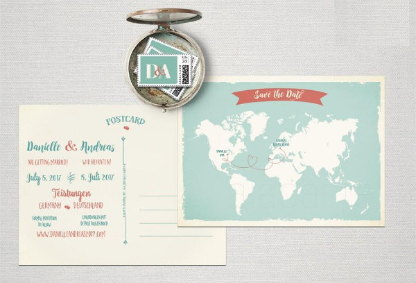 diy destination wedding invitation