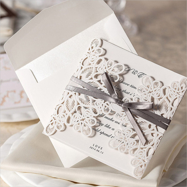 diy lace invitation envelope