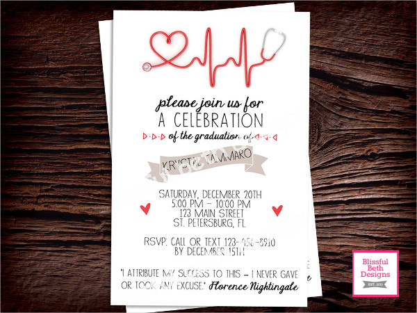 diy nursing graduation invitation