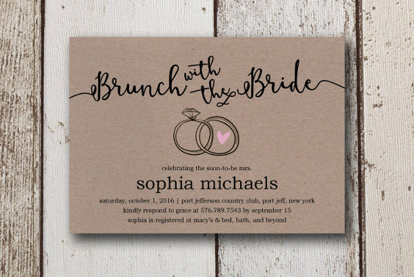 -Diy printable Bridal Shower Invitation