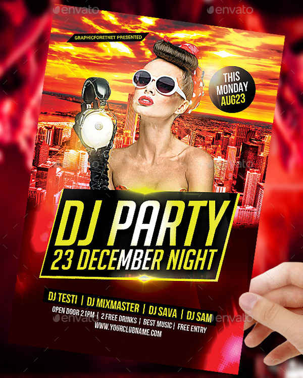dj party flyer psd