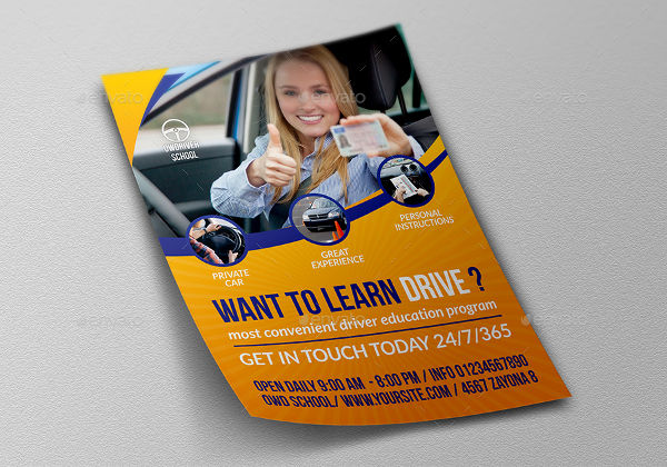 driving school flyer