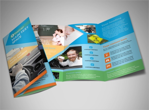 driving school tri fold brochure
