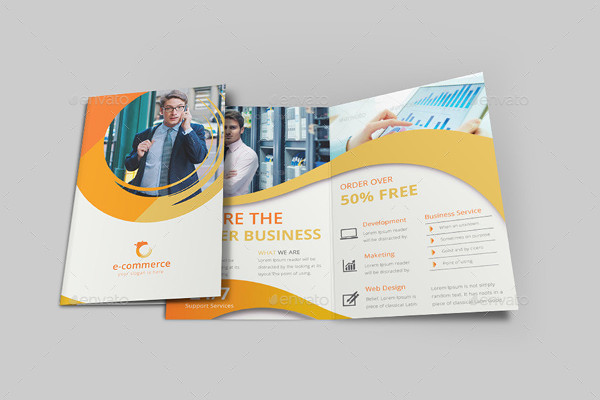 e commerce business tri fold brochure
