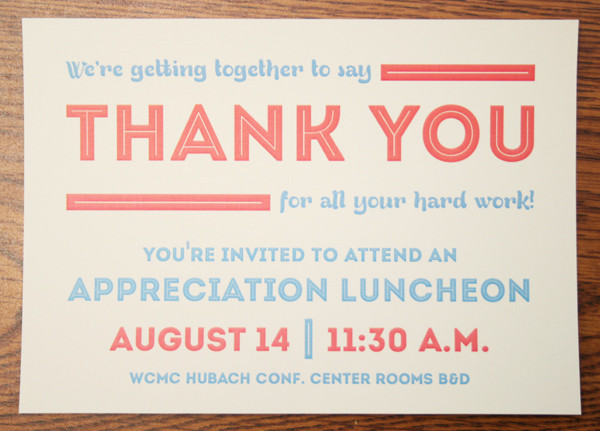 employee appreciation lunch invitation