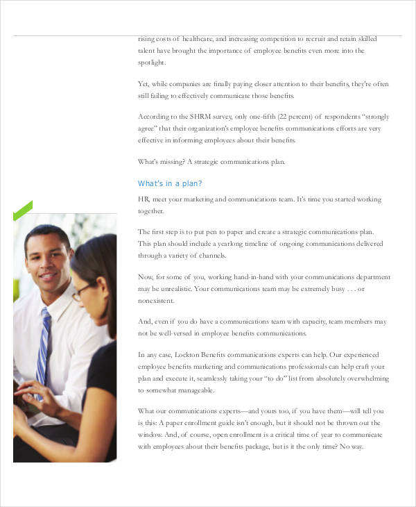 employee benefits communication plan
