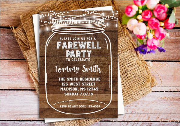 employee farewell party invitation