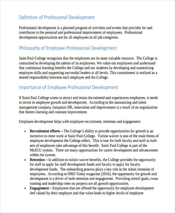 Professional development plan ohva lpdc individual for Employee professional development plan template
