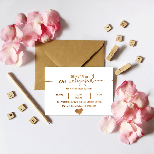 engagement party invitation envelope