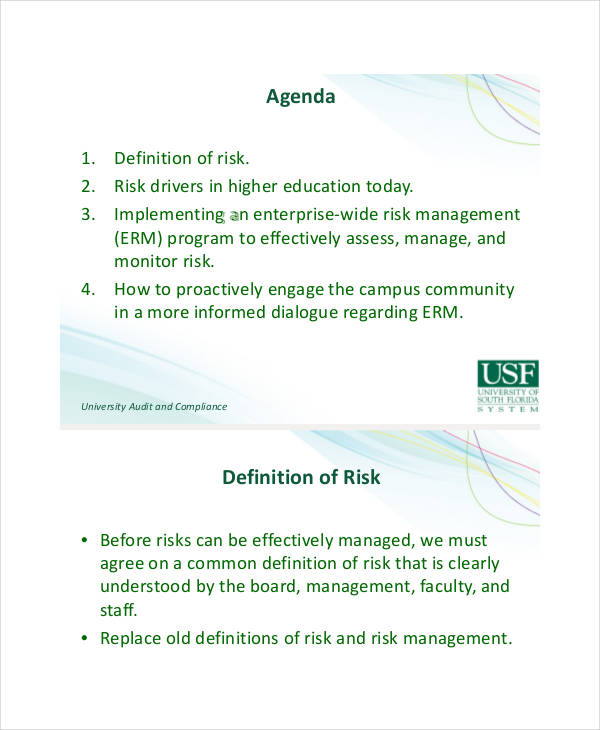 enterprise wide risk assessment