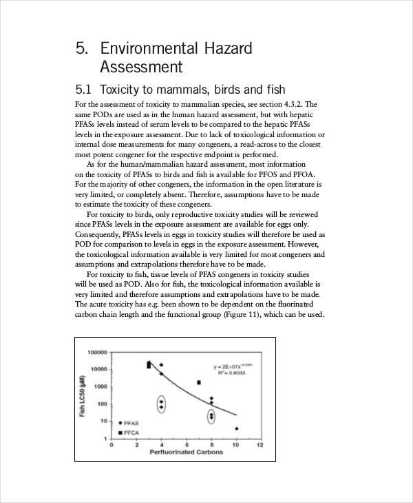 environmental health risk assessment1