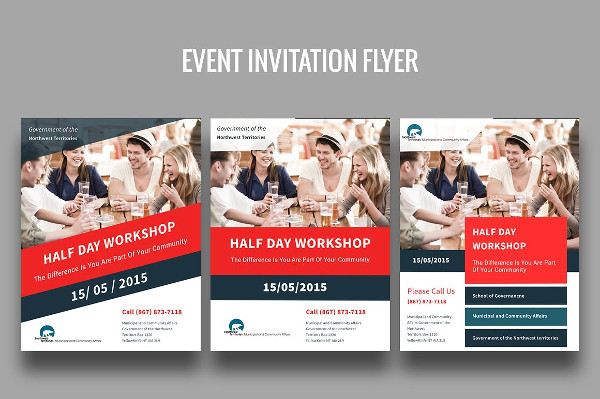 event invitation psd flyer