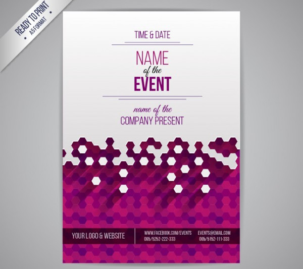 event management psd flyer