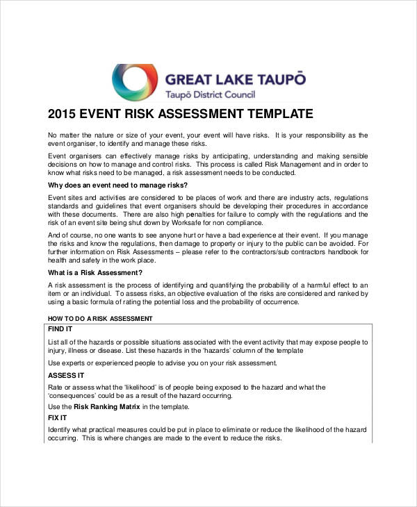 Event Management Risk Assessment