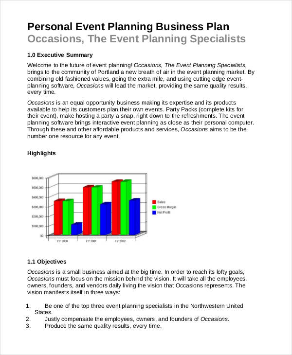 event planning business proposal