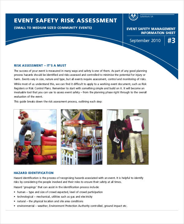 event safety risk assessment