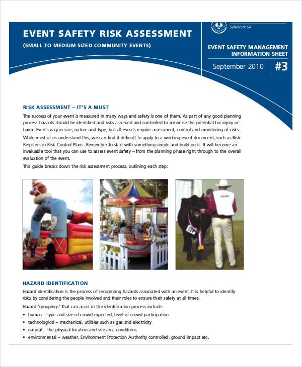 event safety risk assessment