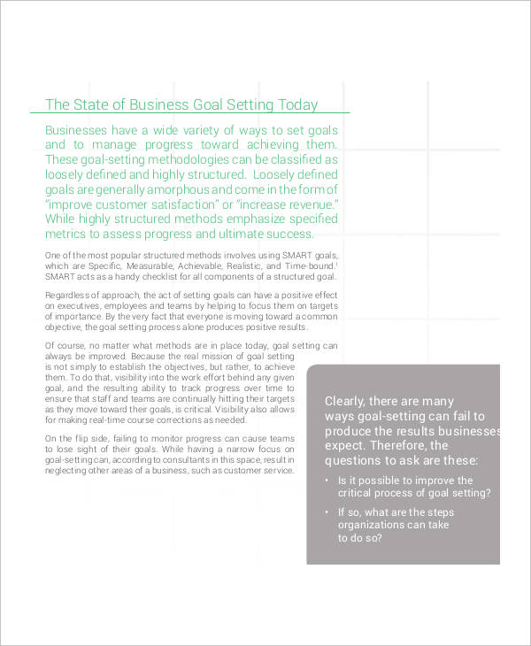 executive smart goals
