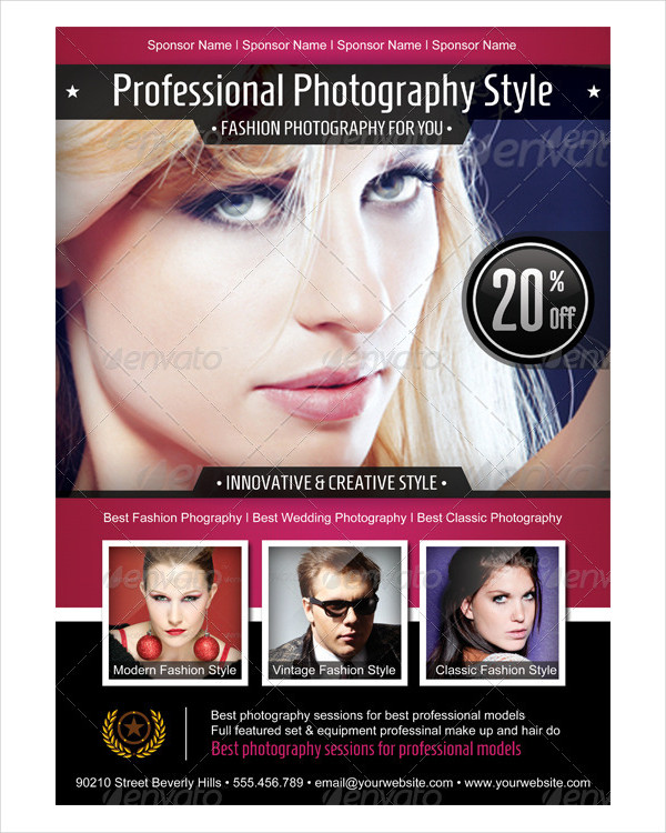 Photography Flyer Designs  Examples  Psd Ai Eps Vector