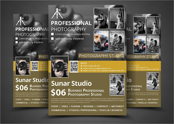 fashion photography studio flyer