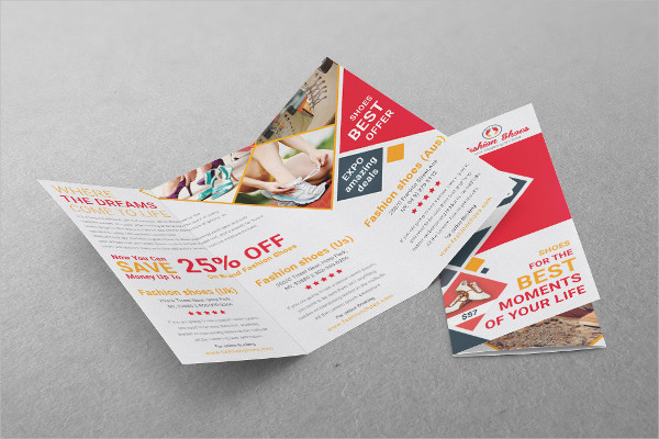 fashion shoes tri fold brochure