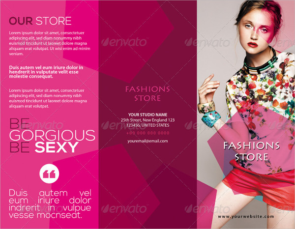 fashion studio tri fold brochure