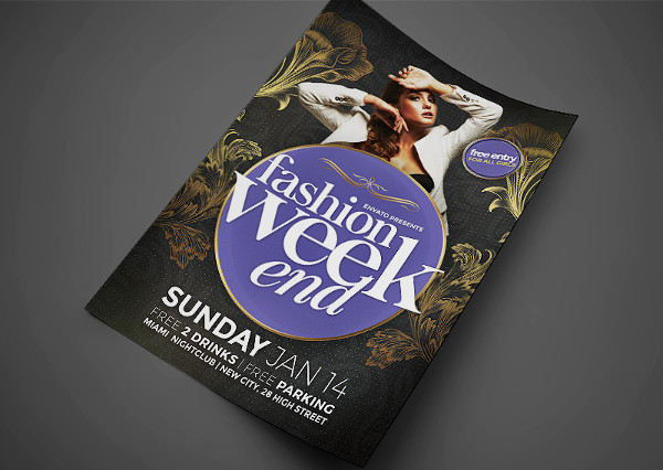 fashion weekend event flyer