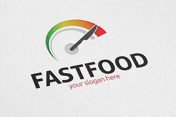 fast food restaurant psd logo