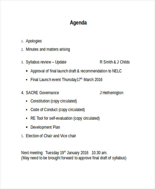 final launch event agenda