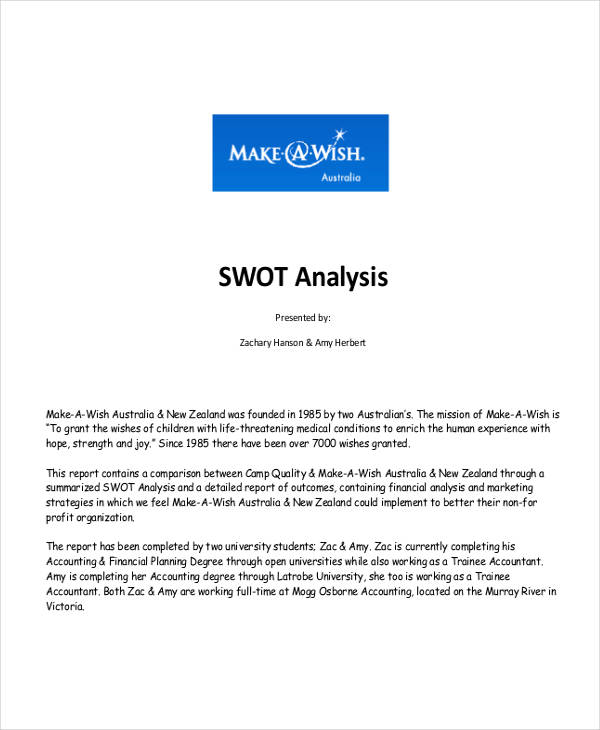 financial swot analysis1